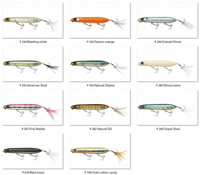 Evergreen Shower Blows fishing lures original range of colors