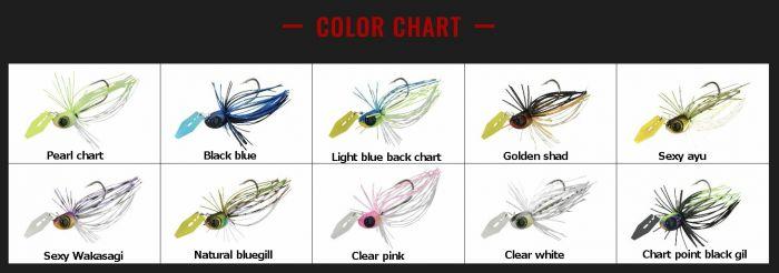 7 colors JACKALL BROS TINY FRY 50 SP