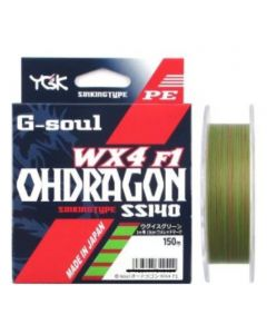 YGK G-soul OHDRAGON WX4F-1 SS140 150m #0.4 (Max7.5lb)