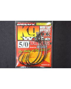 DECOY Kg Hook Wide Worm 25 #5/0