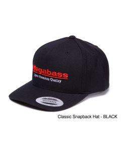 MEGABASS TRUCKER HAT -  Classic Snapback Hat BLACK