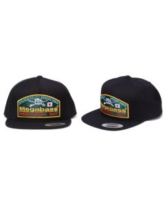 MEGABASS TRUCKER HAT - Throwback Snapback Black