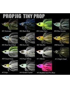 Prop Jig Tiny Prop  3/8 Weedles - #02 Blue Black
