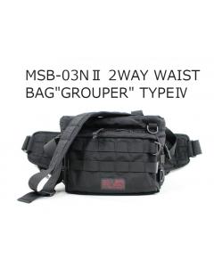 "LINHA MSB-03NⅡ 2WAY WAIST BAG  ""GROUPER"" TYPEⅣ"