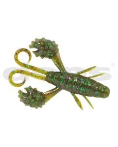 DEPS BECKONCRAW 3.5 inch - #115 Green Pumpkin / Purple & Green Flake
