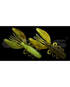 Deps Spiny Craw 3.5inch - #52 Green pumpkin-chartreuse