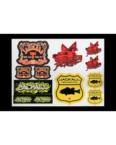 JACKALL Assorted sticker TYPE-II 130mm×175mm