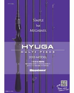 Megabass 2015 HYUGA MULTI PICE - 70-6L-S (6pieces Model)(SPINNING MODEL)