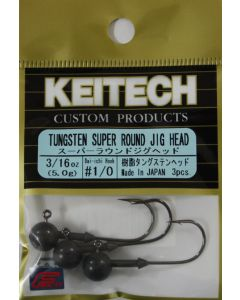 KEITECH Super Round Jig Head 3/16oz #1/0