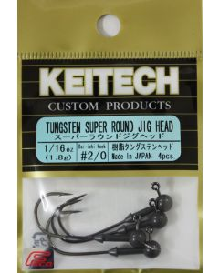 KEITECH Super Round Jig Head 1/16oz #2/0