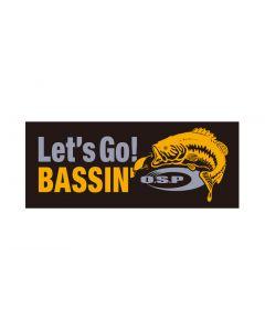 O.S.P Let's Go! BASSIN' Sticker - black