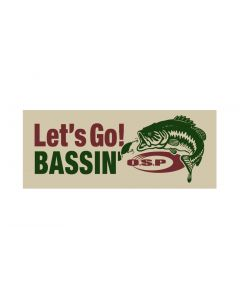 O.S.P Let's Go! BASSIN' Sticker - ivory