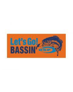 O.S.P Let's Go! BASSIN' Sticker - orange