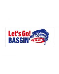 O.S.P Let's Go! BASSIN' Sticker - white