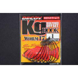 1,2,1//0,2//0,3//0,4//0,5//0 DECOY KG HOOK WORM 17 HIGH POWER OFFSET HOOK Size#